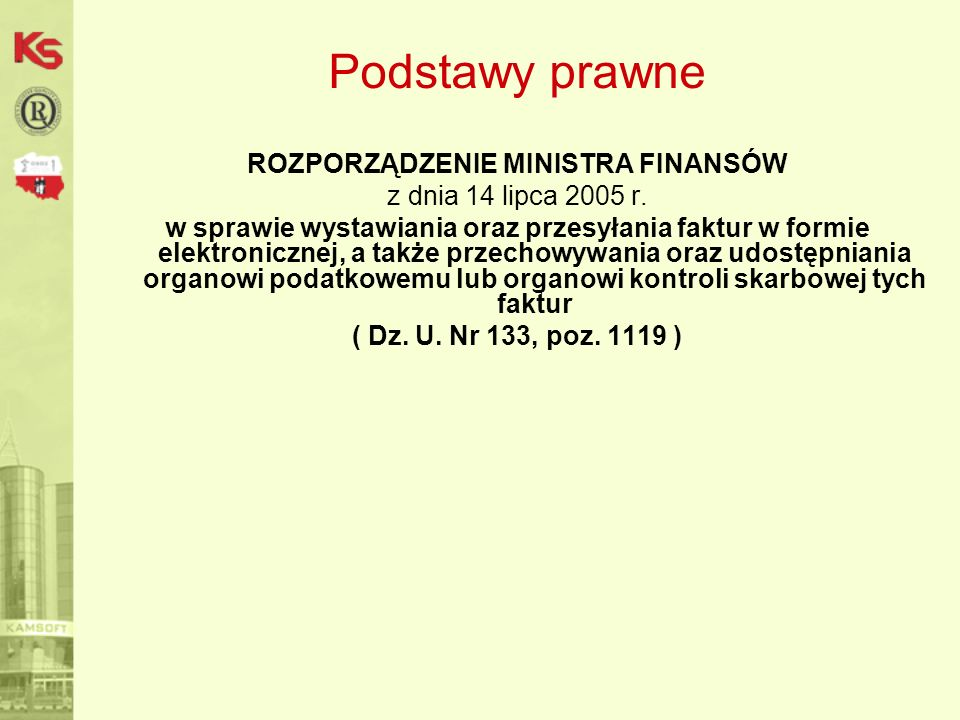 ROZPORZĄDZENIE MINISTRA FINANSÓW