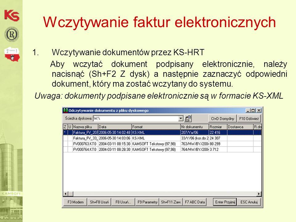 Wczytywanie faktur elektronicznych