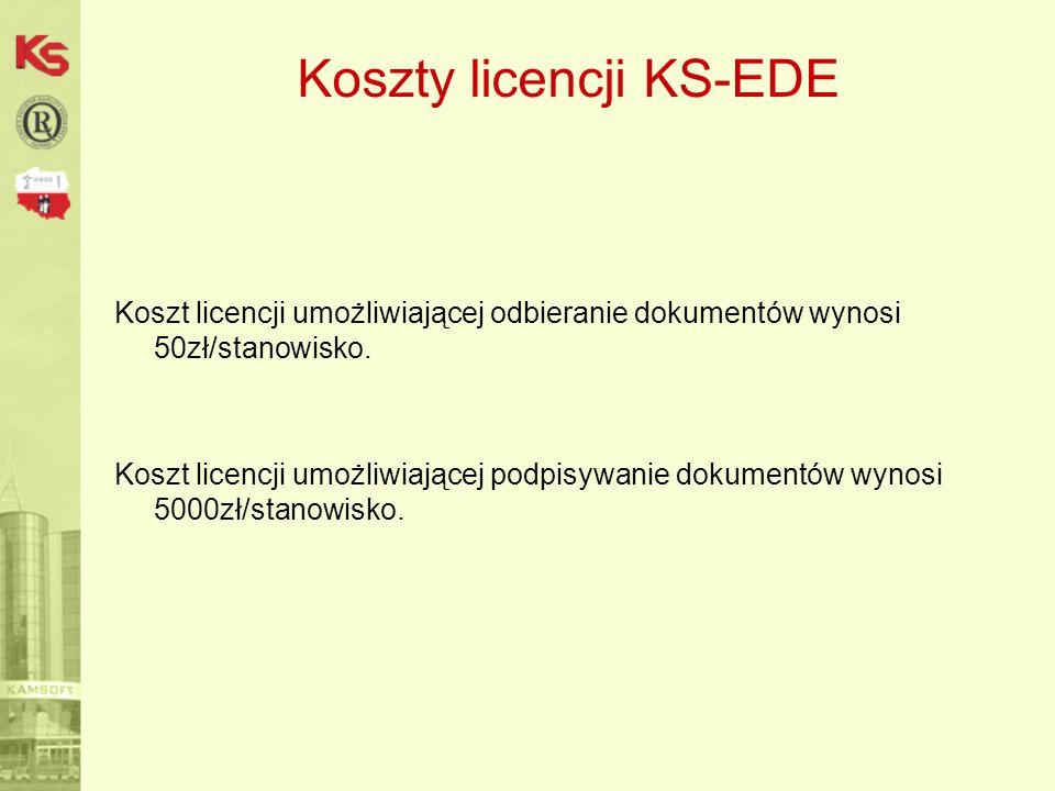 Koszty licencji KS-EDE