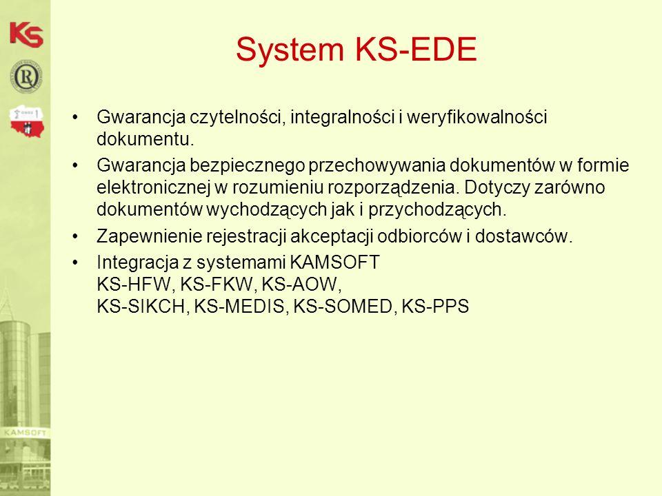 System KS-EDE Gwarancja czytelności, integralności i weryfikowalności dokumentu.