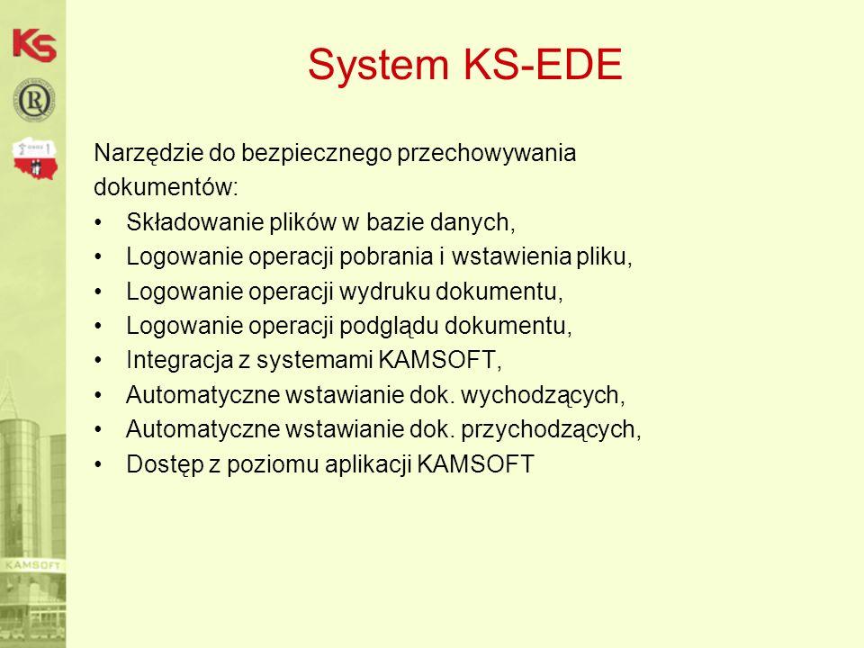 System KS-EDE Narzędzie do bezpiecznego przechowywania dokumentów: