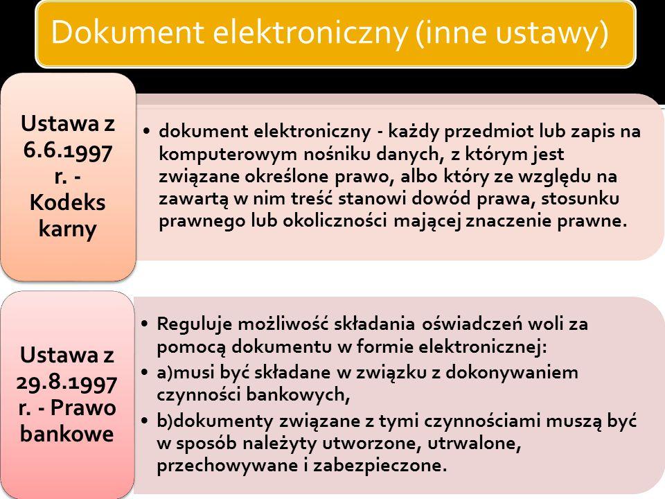 Dokument elektroniczny (inne ustawy)