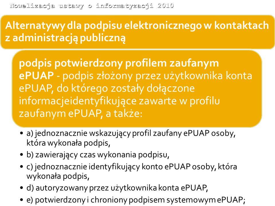 Nowelizacja ustawy o informatyzacji 2010