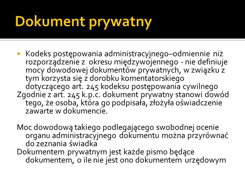 Dokument prywatny