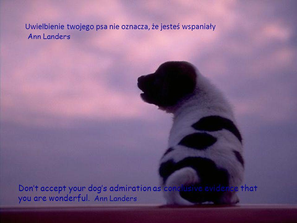 Uwielbienie twojego psa nie oznacza, że jesteś wspaniały Ann Landers