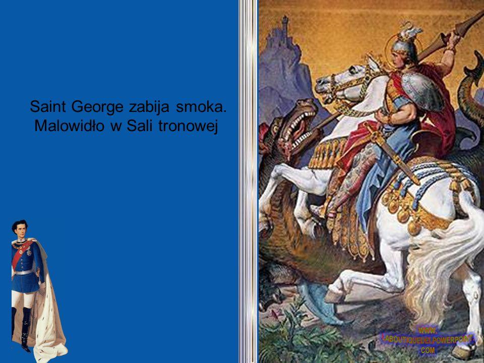 Saint George zabija smoka. Malowidło w Sali tronowej