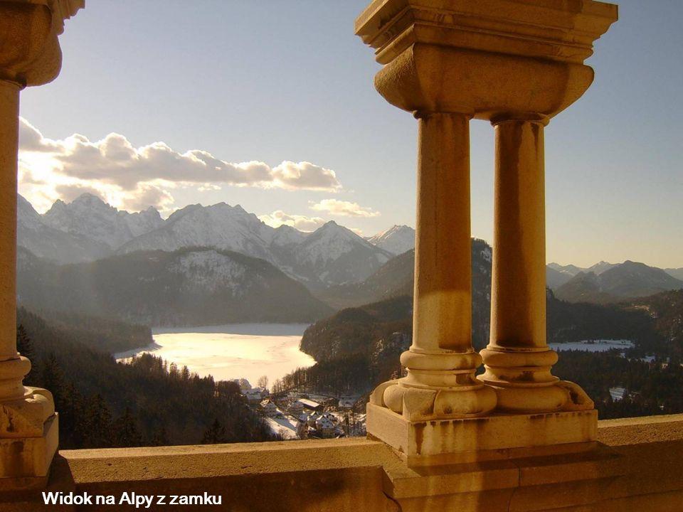 Widok na Alpy z zamku