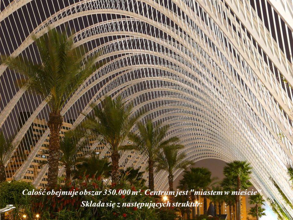 Całość obejmuje obszar 350.000 m². Centrum jest miastem w mieście