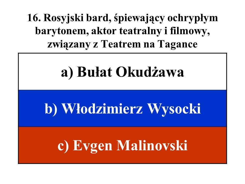 b) Włodzimierz Wysocki