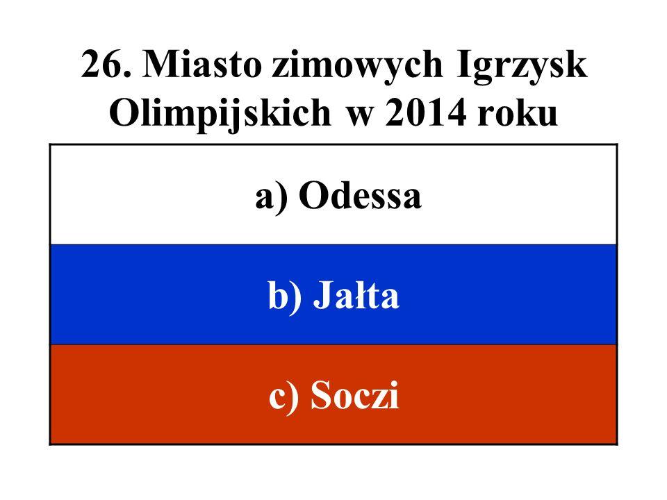 26. Miasto zimowych Igrzysk Olimpijskich w 2014 roku