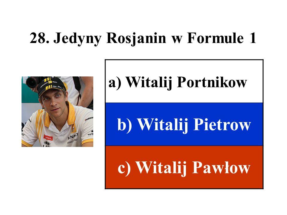 28. Jedyny Rosjanin w Formule 1