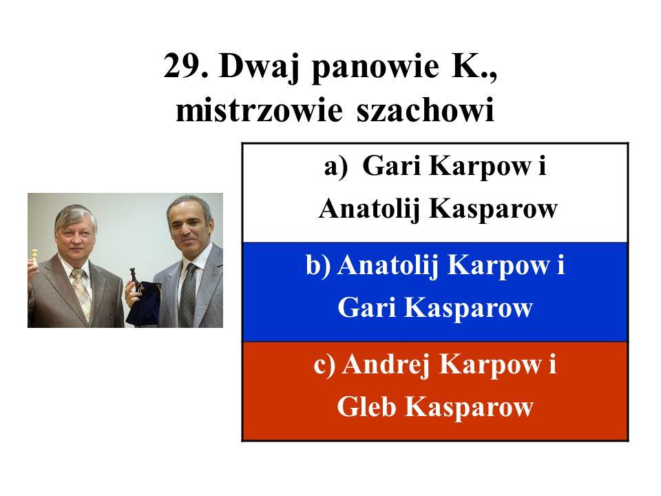 29. Dwaj panowie K., mistrzowie szachowi
