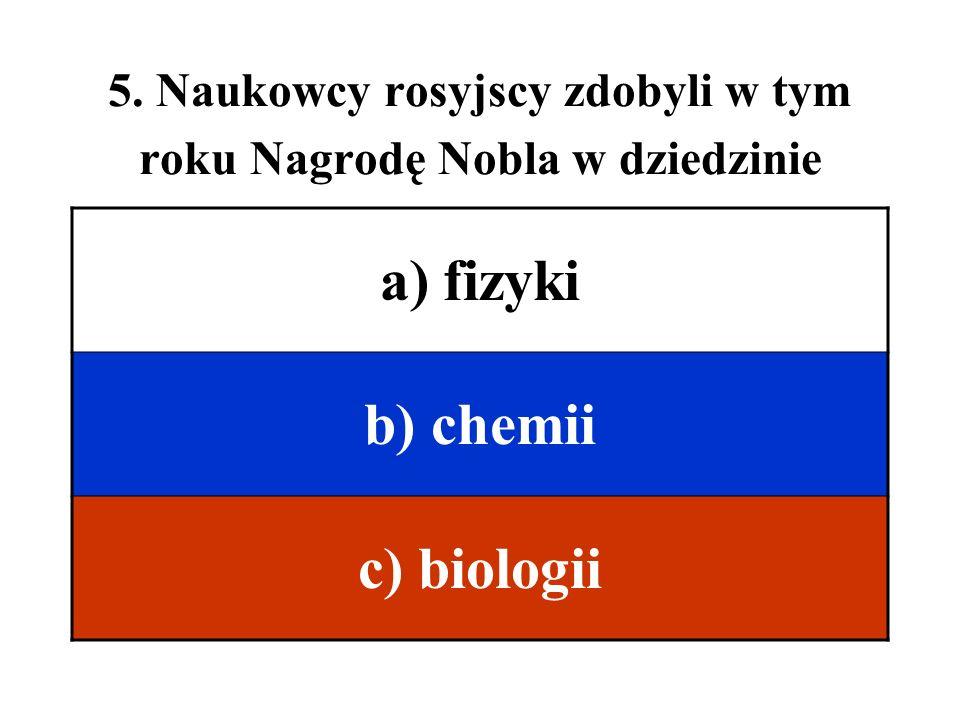 5. Naukowcy rosyjscy zdobyli w tym roku Nagrodę Nobla w dziedzinie