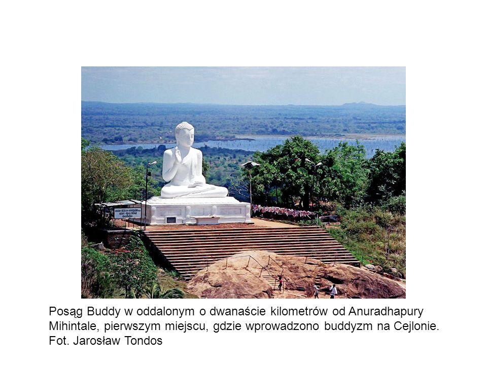 Posąg Buddy w oddalonym o dwanaście kilometrów od Anuradhapury Mihintale, pierwszym miejscu, gdzie wprowadzono buddyzm na Cejlonie.