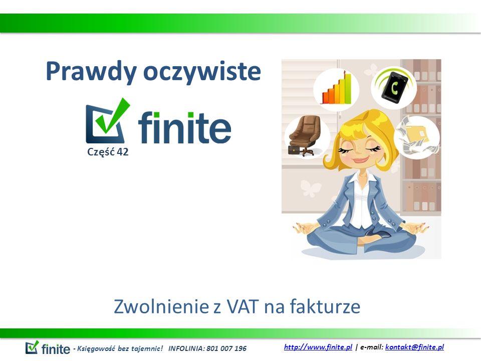 Zwolnienie z VAT na fakturze