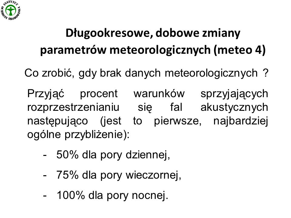 Długookresowe, dobowe zmiany parametrów meteorologicznych (meteo 4)
