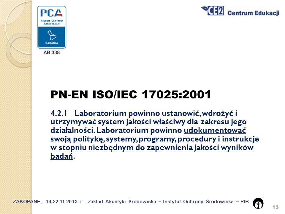 PN-EN ISO/IEC 17025:2001