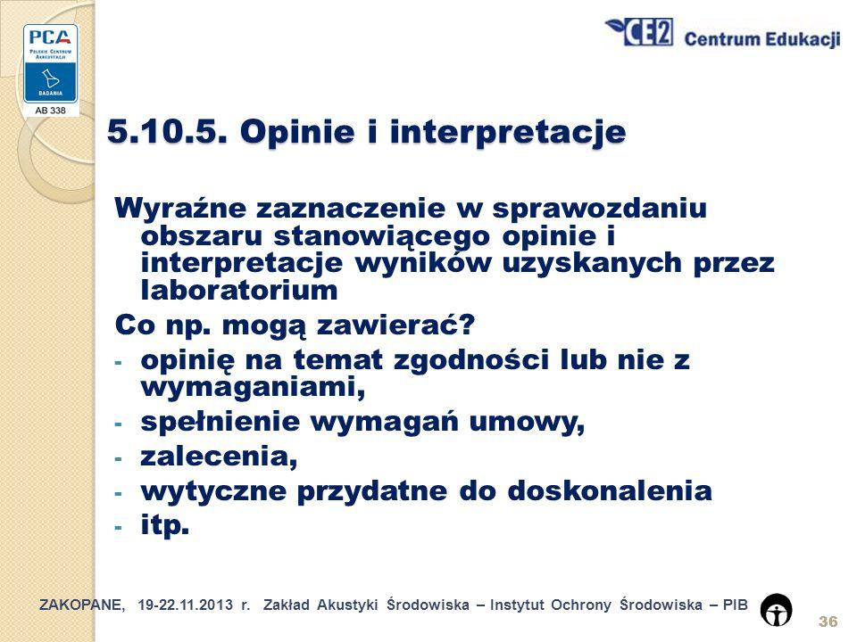 5.10.5. Opinie i interpretacje