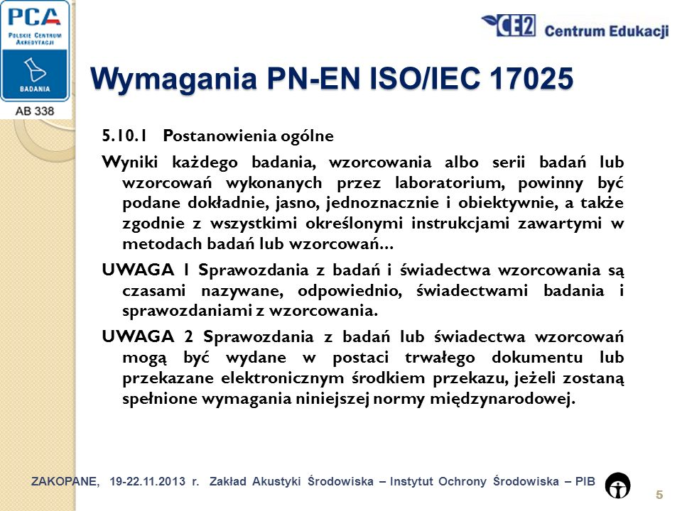 Wymagania PN-EN ISO/IEC 17025