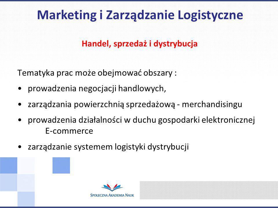 Marketing i Zarządzanie Logistyczne Handel, sprzedaż i dystrybucja