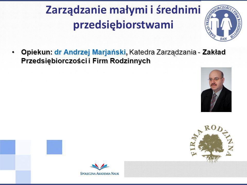 Zarządzanie małymi i średnimi przedsiębiorstwami