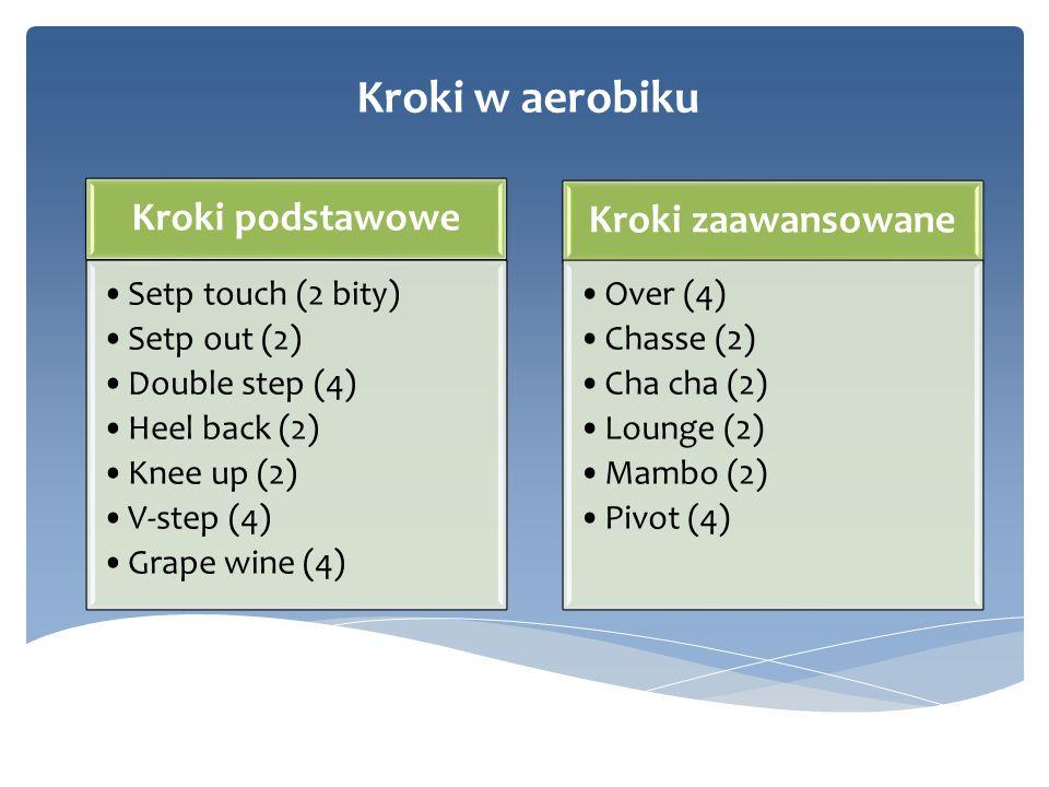 Kroki w aerobiku Kroki podstawowe Kroki zaawansowane