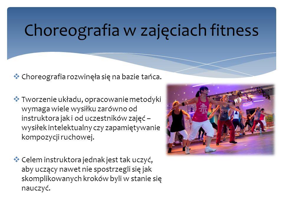 Choreografia w zajęciach fitness