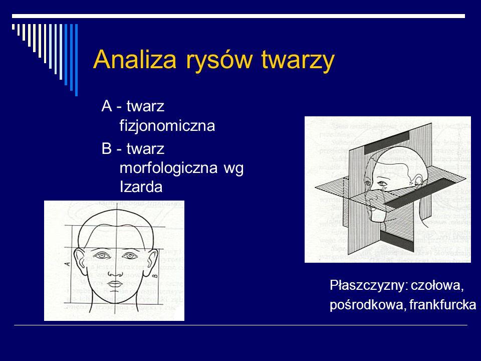Analiza rysów twarzy A - twarz fizjonomiczna