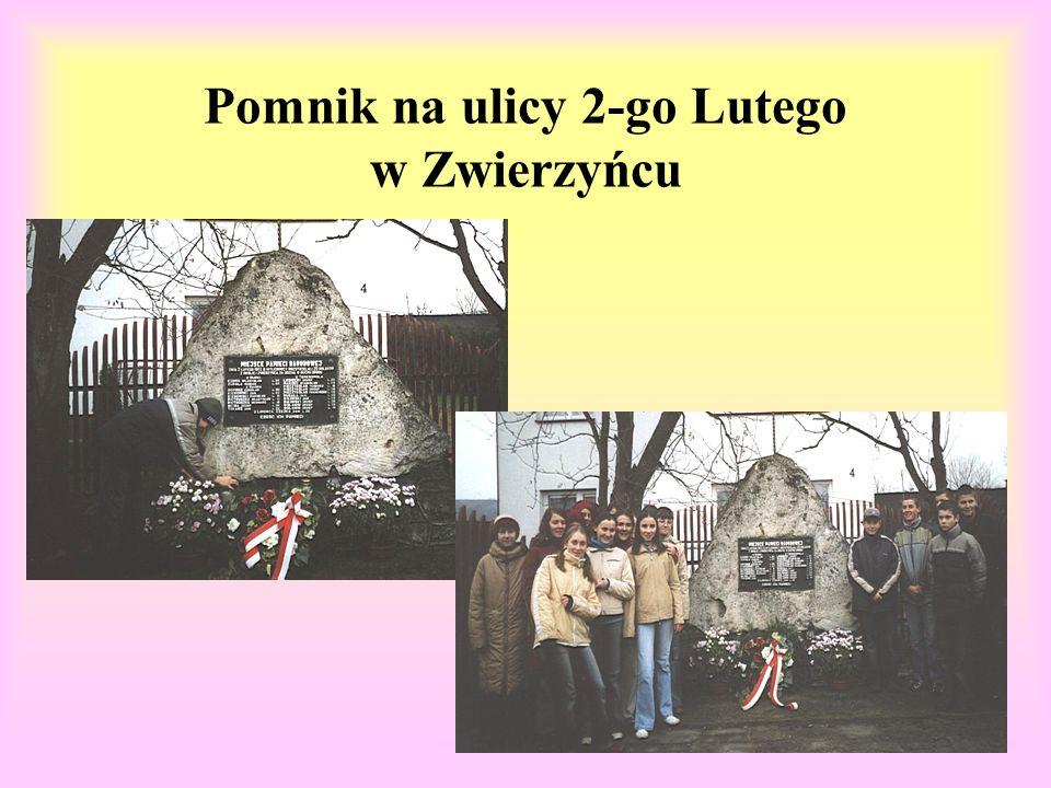 Pomnik na ulicy 2-go Lutego w Zwierzyńcu