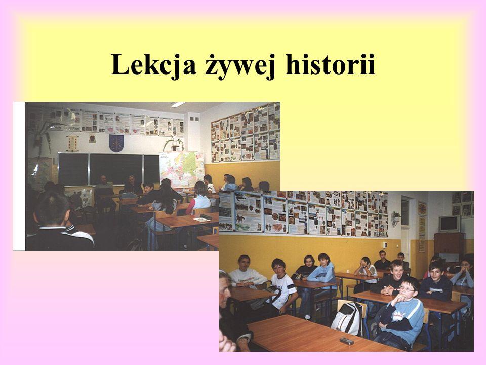 Lekcja żywej historii 17 listopada gościliśmy w naszej szkole prezesa i zastępcę Światowego Związku Żołnierzy.