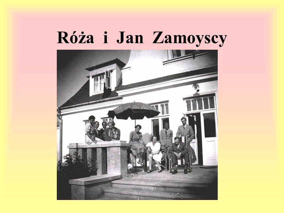 Róża i Jan Zamoyscy Jan i Róża Zamoyscy mieszkali w Zwierzyńcu, podjęli się trudnego zadania- ratowania ludzi.