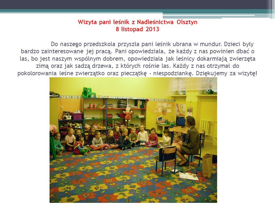Wizyta pani leśnik z Nadleśnictwa Olsztyn 8 listopad 2013