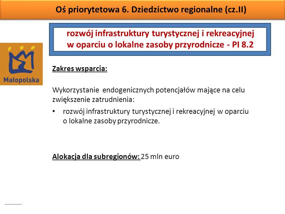 Oś priorytetowa 6. Dziedzictwo regionalne (cz.II)