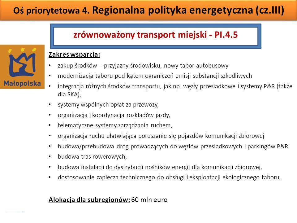 zrównoważony transport miejski - PI.4.5