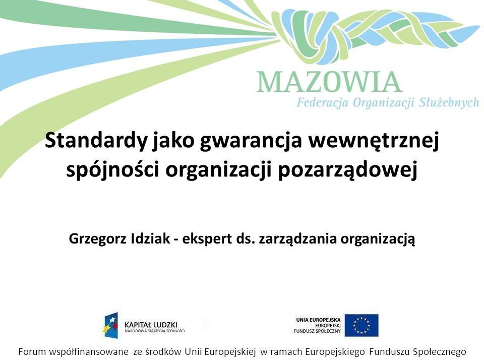 Grzegorz Idziak - ekspert ds. zarządzania organizacją