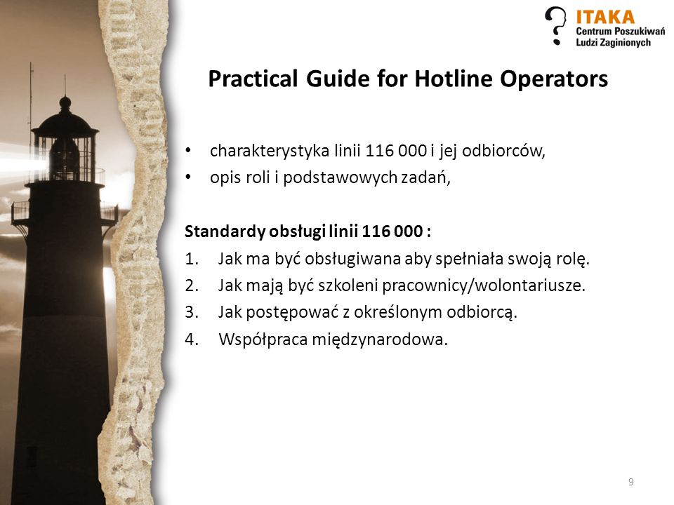 Practical Guide for Hotline Operators