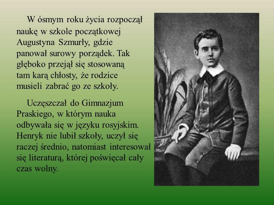 W ósmym roku życia rozpoczął naukę w szkole początkowej Augustyna Szmurły, gdzie panował surowy porządek. Tak głęboko przejął się stosowaną tam karą chłosty, że rodzice musieli zabrać go ze szkoły.