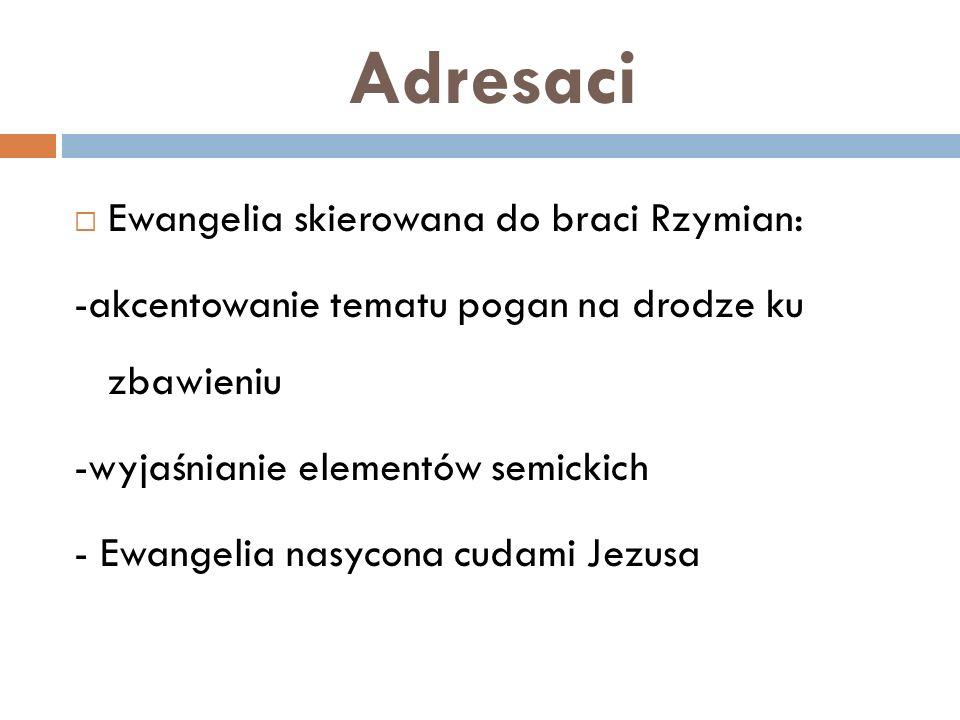 Adresaci Ewangelia skierowana do braci Rzymian:
