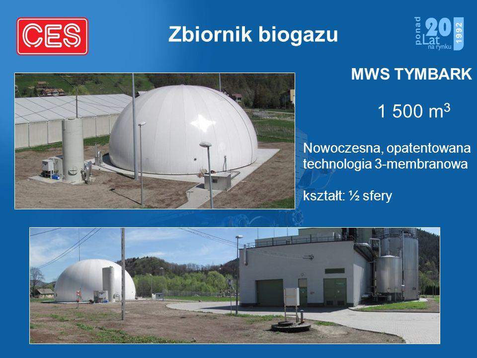 Zbiornik biogazu 1 500 m3 MWS TYMBARK