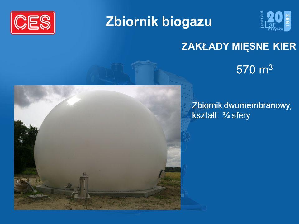 Zbiornik biogazu 570 m3 ZAKŁADY MIĘSNE KIER Zbiornik dwumembranowy,