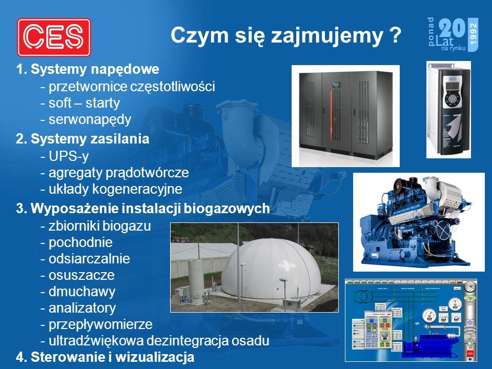 Czym się zajmujemy 1. Systemy napędowe - przetwornice częstotliwości