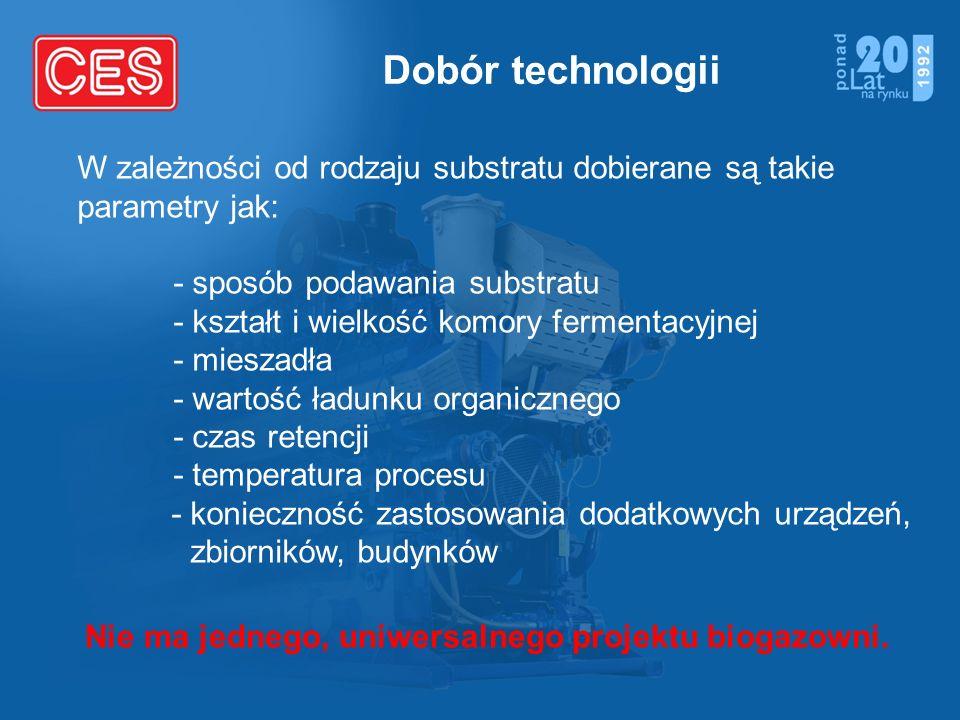 Nie ma jednego, uniwersalnego projektu biogazowni.