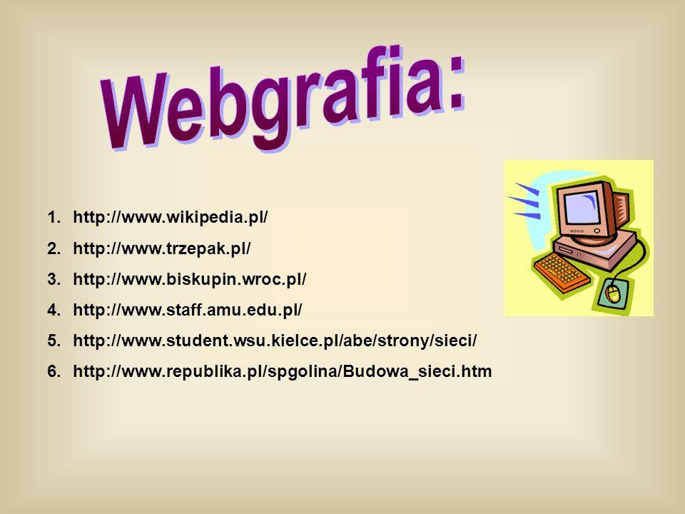 Webgrafia: http://www.wikipedia.pl/ http://www.trzepak.pl/