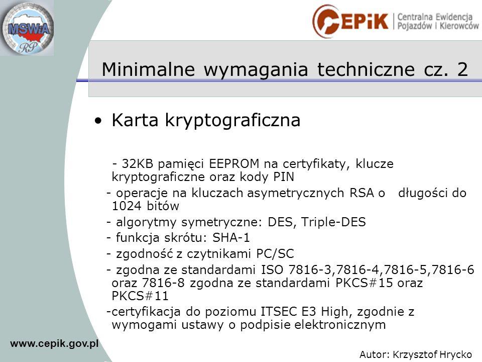 Minimalne wymagania techniczne cz. 2