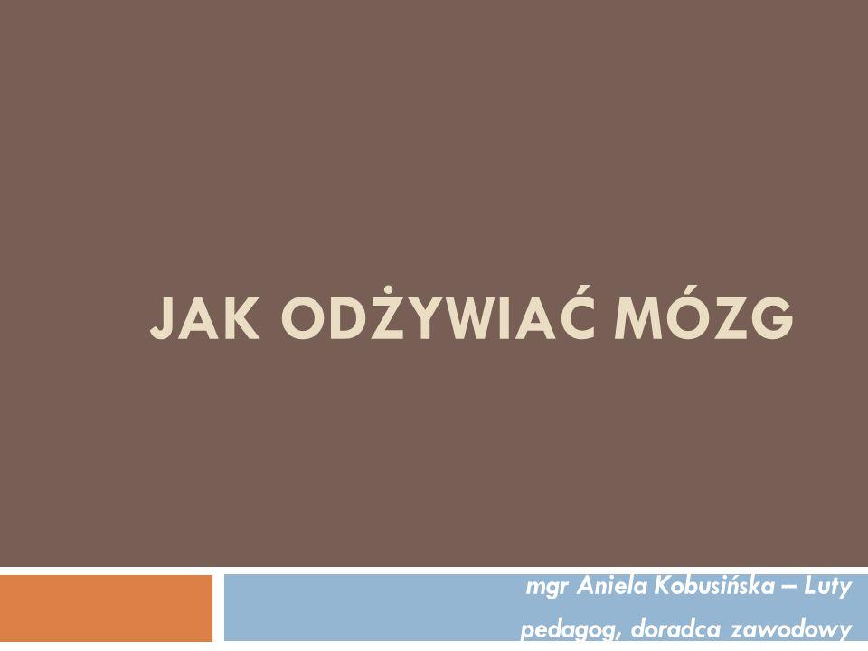 mgr Aniela Kobusińska – Luty pedagog, doradca zawodowy