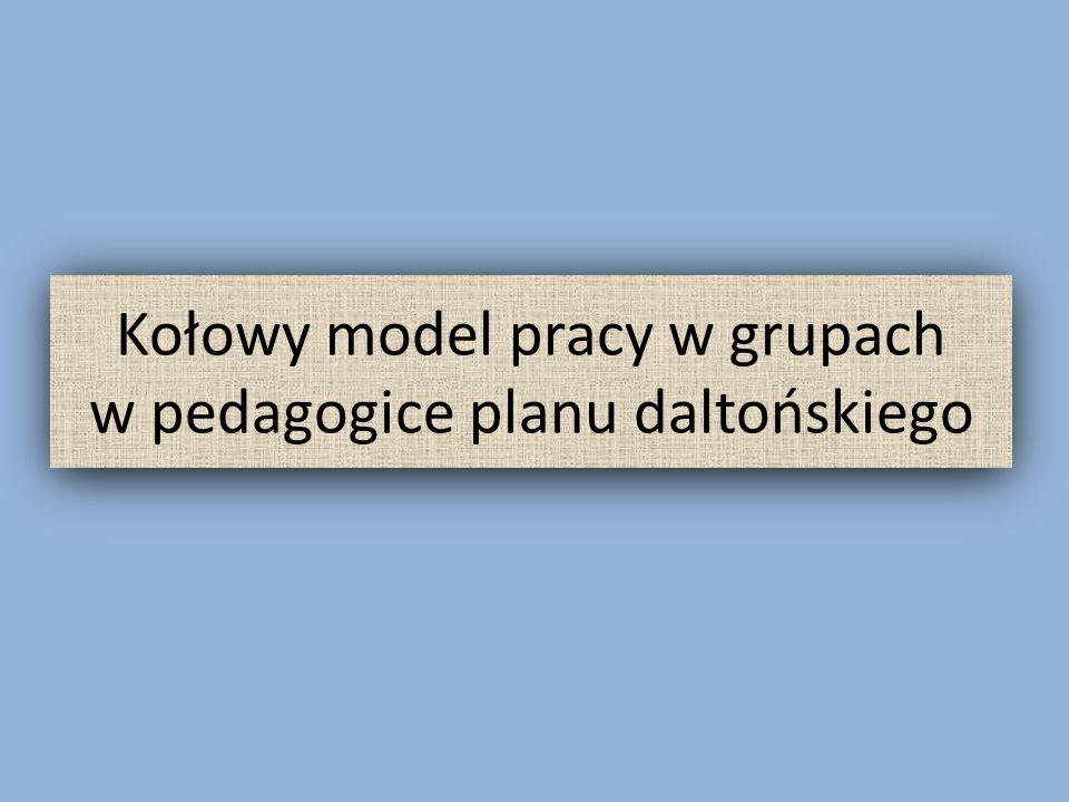 Kołowy model pracy w grupach w pedagogice planu daltońskiego