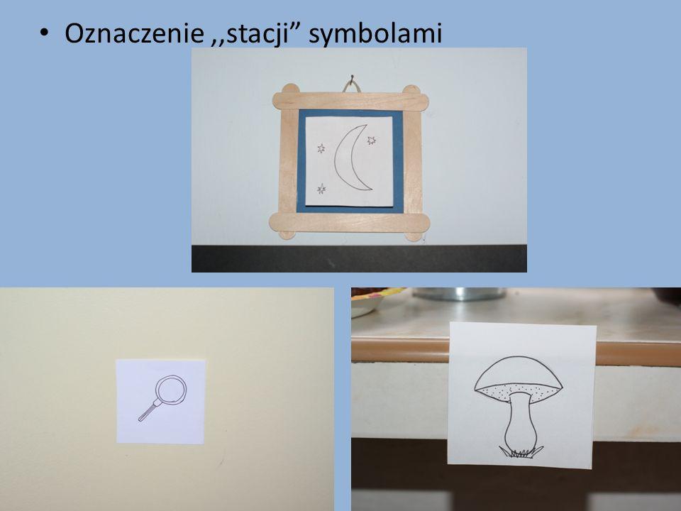Oznaczenie ,,stacji symbolami