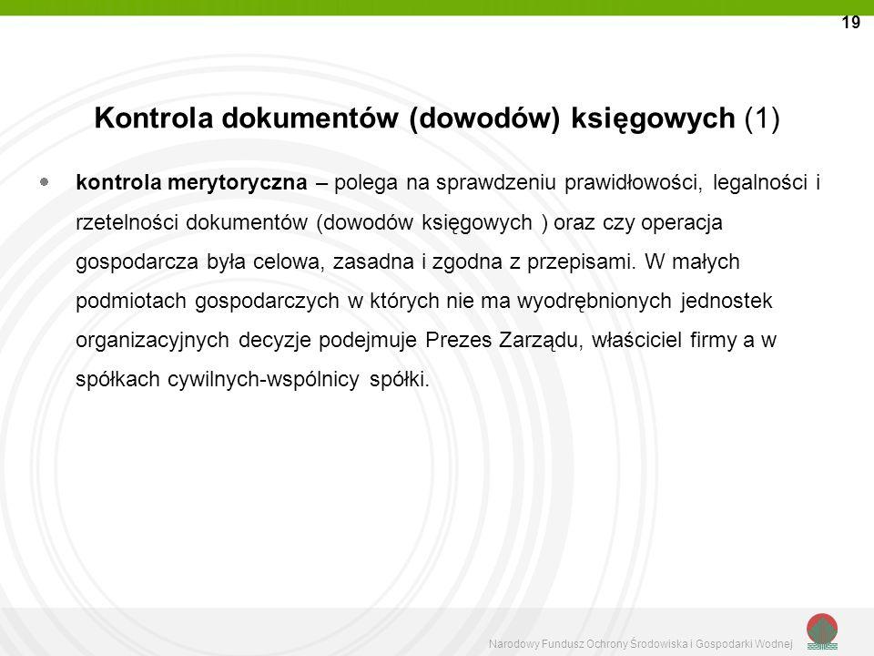 Kontrola dokumentów (dowodów) księgowych (1)
