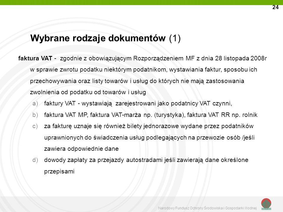 Wybrane rodzaje dokumentów (1)