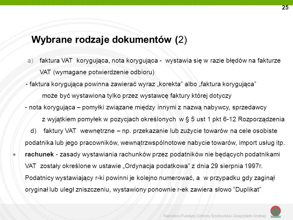 Wybrane rodzaje dokumentów (2)